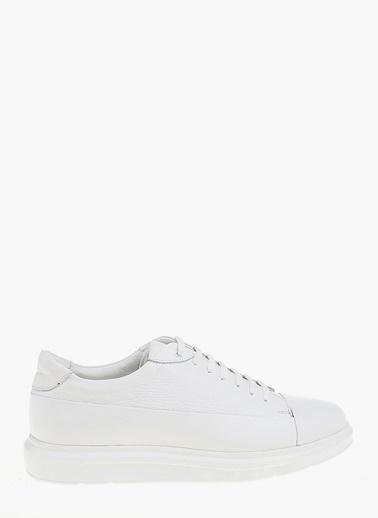 Divarese %100 Deri Bağcıklı Ayakkabı Beyaz